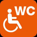 WC für Gehbehinderte