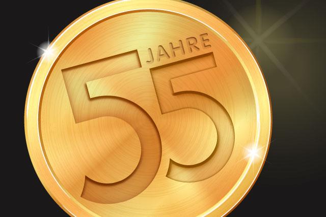 55-jähriges Jubiläum