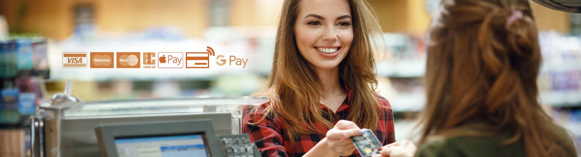 Einfach bezahlen und Geld abheben!